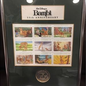 Bambi 55th anniversary stamped picture